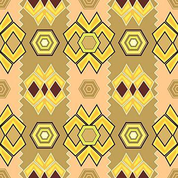 Abstract Yellow Artistic Pattern by kbasandra