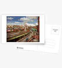 City - New York - The Brooklyn bridge from 1903 Postcards