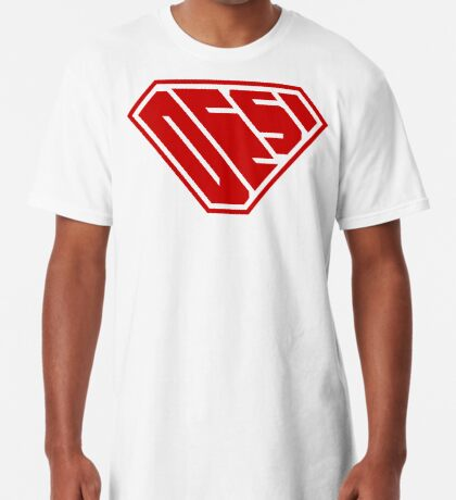 Desi SuperEmpowered (Red) Long T-Shirt