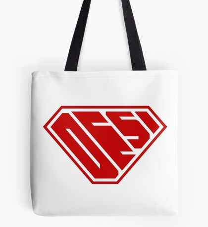Desi SuperEmpowered (Red) Tote Bag