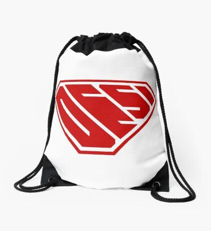 Desi SuperEmpowered (Red) Drawstring Bag