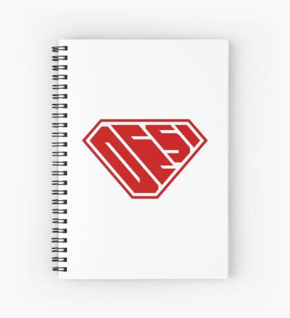 Desi SuperEmpowered (Red) Spiral Notebook