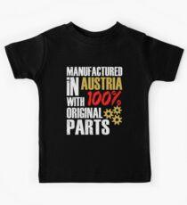 Manufactured In Austria With 100% Original Parts Kids Tee