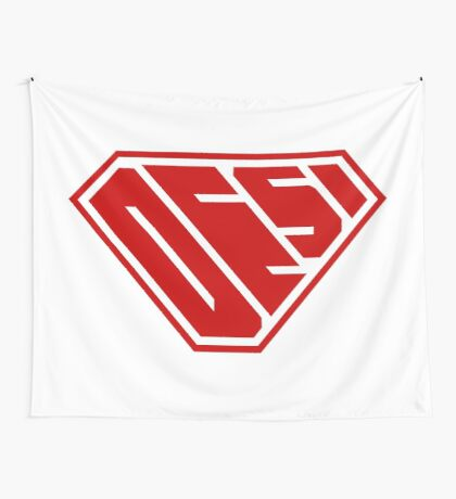 Desi SuperEmpowered (Red) Wall Tapestry