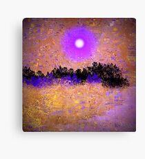 Purple Moon Glow Canvas Print