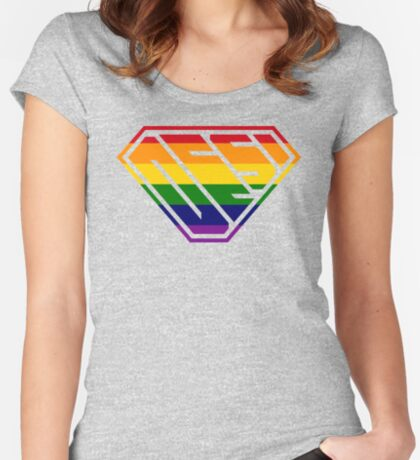 Desi SuperEmpowered (Rainbow) Fitted Scoop T-Shirt