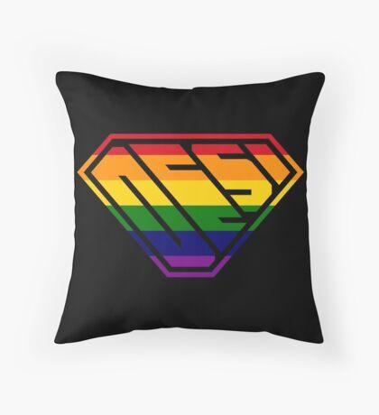 Desi SuperEmpowered (Rainbow) Throw Pillow