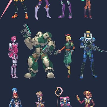 Phantasy Star Online Characters by winscometjump