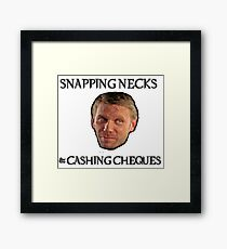 Supernatural - Snapping Necks & Cashing Cheques Framed Print