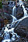 Roadside Waterfall Upper Yosemite by photosbyflood