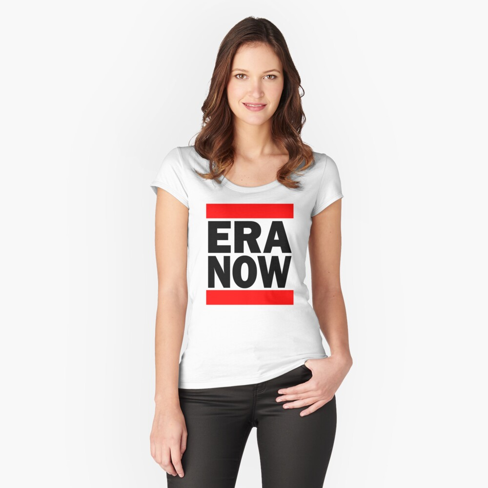 ERA NOW - red Fitted Scoop T-Shirt