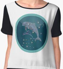 Dolphin Adventure Chiffon Top