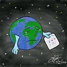 Social Media Sad Earth by theCyberDoctor