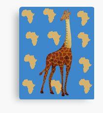 Ruler Giraffe Canvas Print
