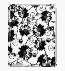 Black flowers iPad Case/Skin