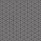 Infinite Cubes | Futuristic Fashion | Big Sacred Geometry Pattern Print (High Quality) by FreshThreadShop