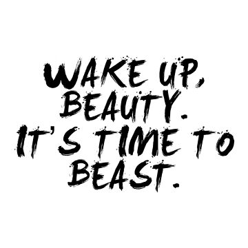 Wake up... Gym Motivational Quote by MOSAICART