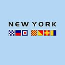 New York Nautical Maritime Sailing Flags Light Color by TinyStarAmerica