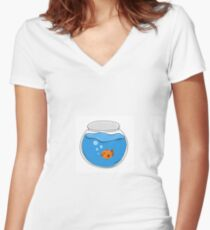 Fish Bowl Women's Fitted V-Neck T-Shirt