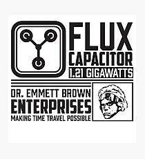 Doc Brown Enterprises Flux Capacitor  Photographic Print