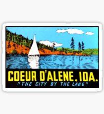 Pegatina Coeur D & # 39; Alene Idaho Vintage Travel Decal