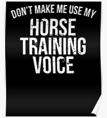 Don't Make Me Use My Horse Training Voice Funny T-Shirt Poster