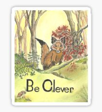 Be Clever Little Baby Fox   Sticker