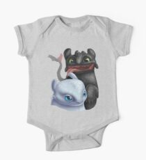 Toothless and His Fair Lady (Light Fury) One Piece - Short Sleeve