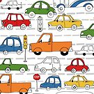 Cars and Truck Traffic Patterns by latheandquill