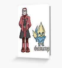 Ember's Maxie and Manectric Greeting Card