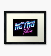 Retro Future Framed Print