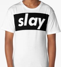 Slay Words Millennials Use   Long T-Shirt