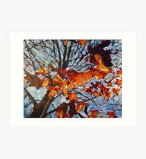 Golden Leaves 1 Art Print