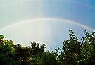 another view  white rainbow and blue sky by Juilee  Pryor