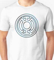 Embossed Blue Lantern Symbol T-Shirt