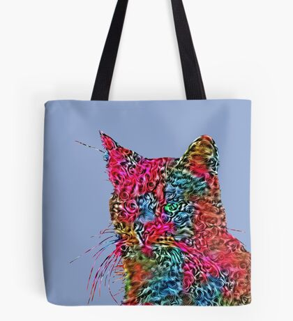 Artificial neural style Rose wild cat Tote Bag
