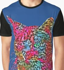 Artificial neural style Rose wild cat Graphic T-Shirt