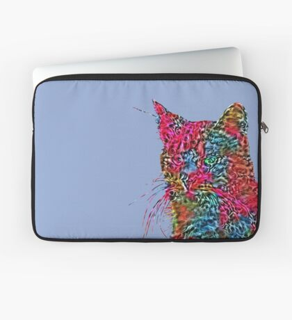Artificial neural style Rose wild cat Laptop Sleeve