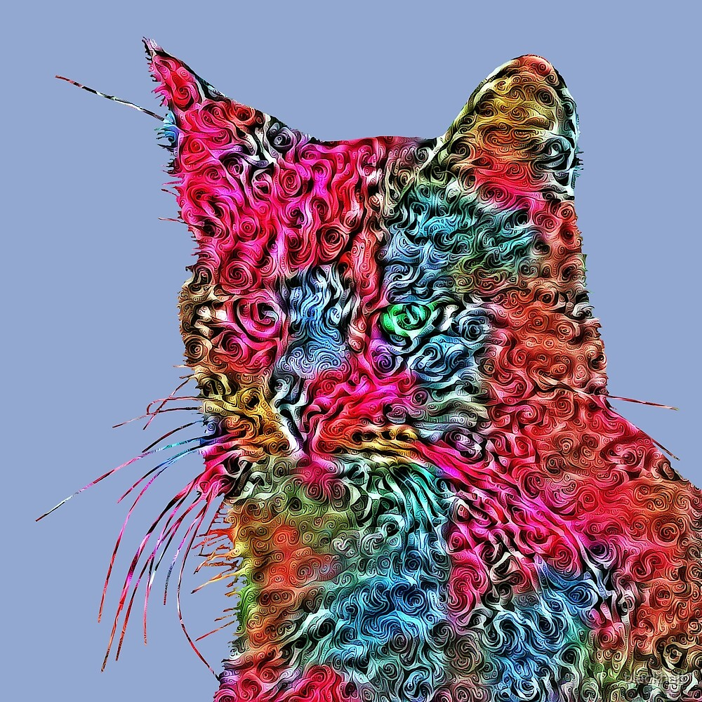 Artificial neural style Rose wild cat by blackhalt