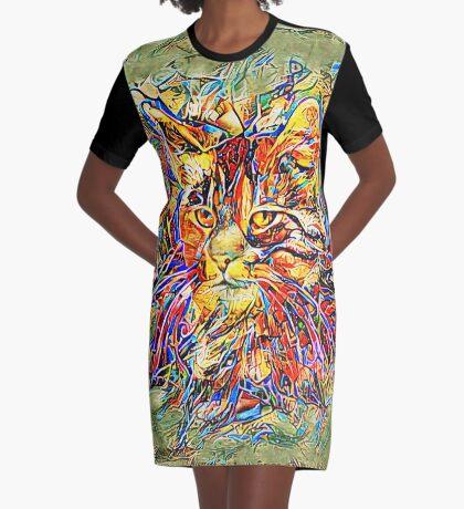 Ninja Cat. Deep Neural Networks #Art Graphic T-Shirt Dress