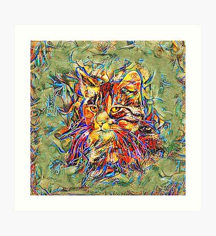 Ninja Cat. Deep Neural Networks #Art Art Print