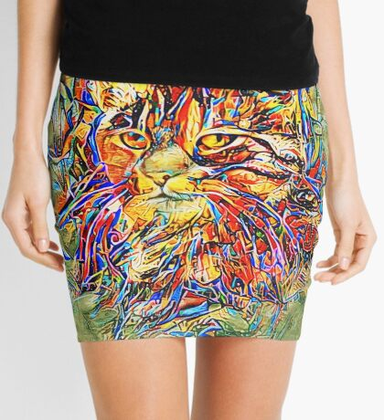 Ninja Cat. Deep Neural Networks #Art Mini Skirt