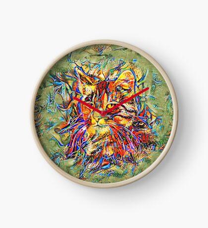 Ninja Cat. Deep Neural Networks #Art Clock