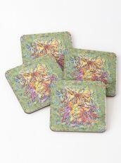 Ninja Cat. Deep Neural Networks #Art Coasters