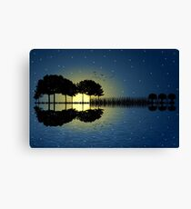 guitar island moonlight iLL Canvas Print