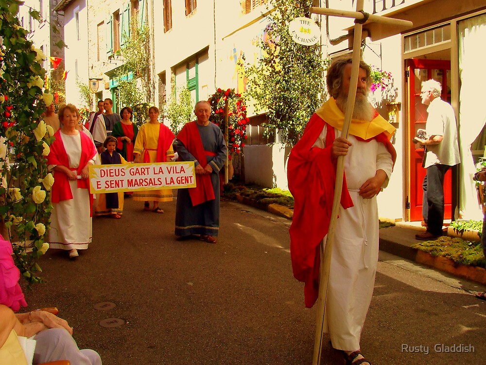 The Ostension Festival Rochechouart:  The Procession:  by Rusty  Gladdish