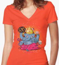 Ganesh Women's Fitted V-Neck T-Shirt
