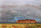 Uluru – Watercolour by Paul Gilbert