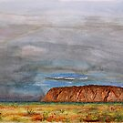 Uluru – Watercolour by Paul Gilbert