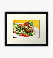 Chicken Burger à la Liz Framed Print